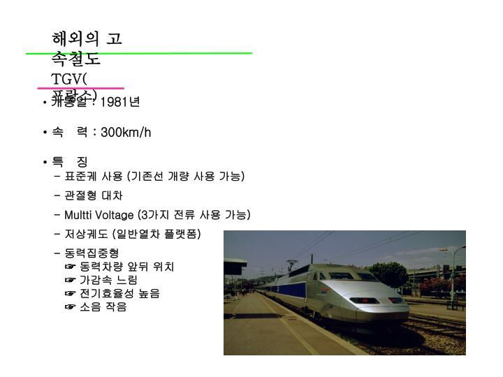 해외의 고속철도