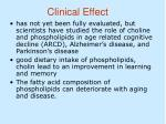 clinical effect