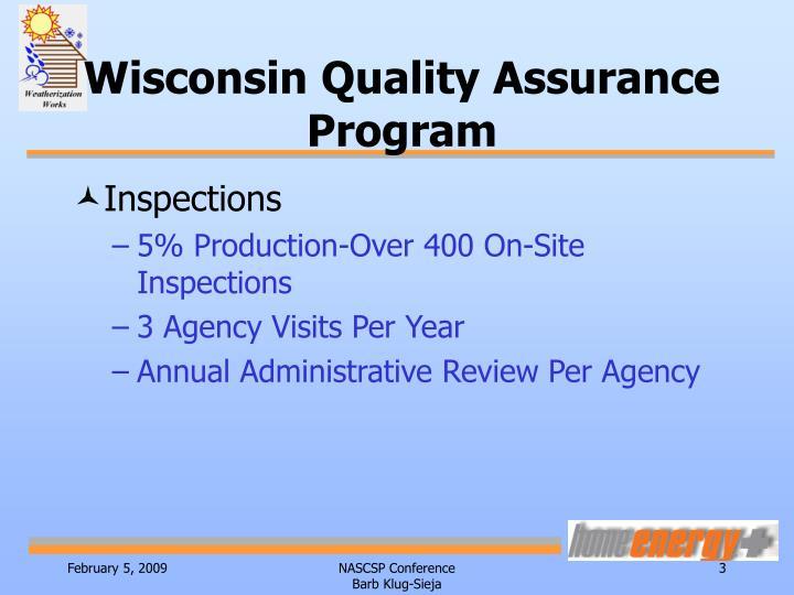 Wisconsin quality assurance program1