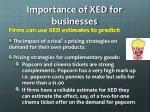 importance of xed for businesses
