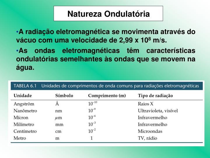 Natureza Ondulatória