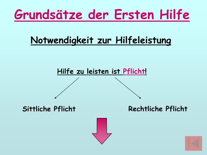 Grundsätze der Ersten Hilfe