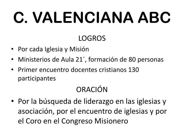C. VALENCIANA ABC