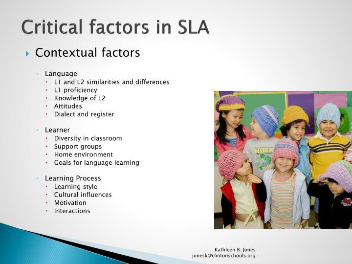 Critical factors in SLA
