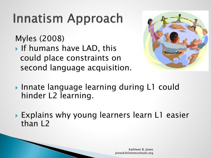 Innatism approach1