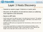 layer 3 hosts discovery