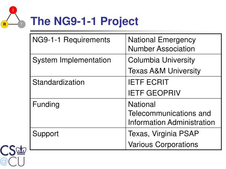The NG9-1-1 Project