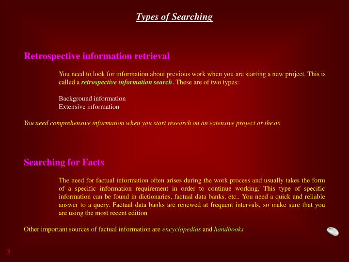 Types of Searching