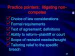 practice pointers litigating non competes