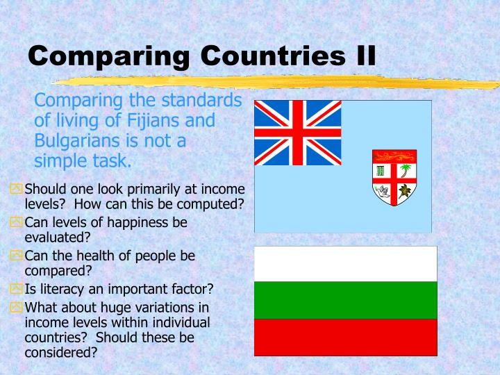 Comparing Countries II