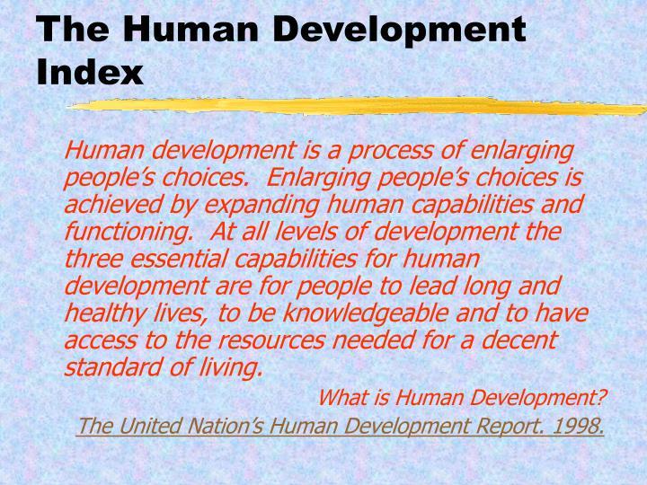 The Human Development Index
