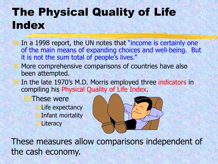 The Physical Quality of Life Index