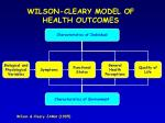 wilson cleary model of health outcomes1