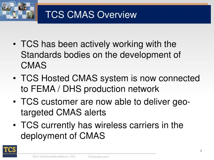 TCS CMAS Overview