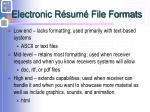 electronic r sum file formats