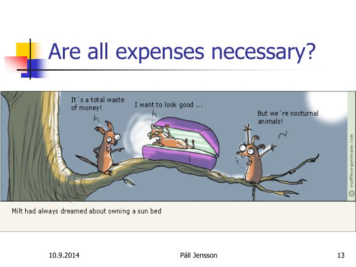 Are all expenses necessary?