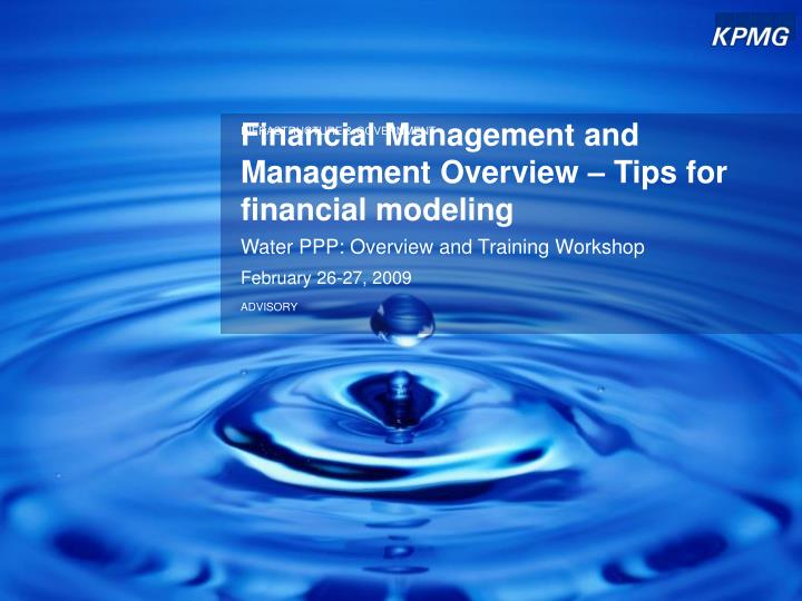 financial management and management overview tips for financial modeling n.