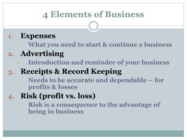 4 elements of business