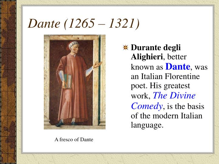 the influence of dante alighieri on italian culture The influence of italian poets it is in my opinion an unusual anthology thanks to the presence of different countries culture alighieri, dante.