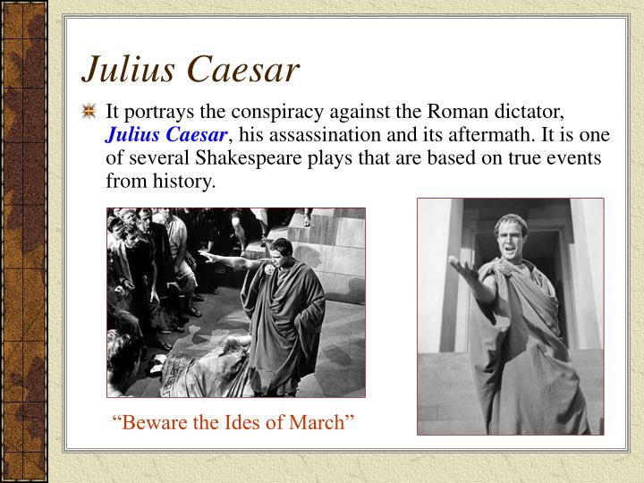 warning juilus caesar of the ides Caesar (louis calhern) returns to rome, then a blind soothsayer (richard hale) with famous words of warning, also getting a reading off brutus (james mason) in joseph l mankiewicz's production of shakespeare's julius caesar, 1953.
