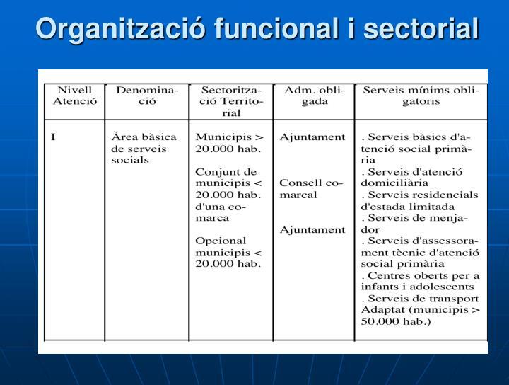 Organització funcional i sectorial