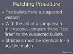 matching procedure
