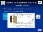 sistema di rivelazione basato su cross delay line