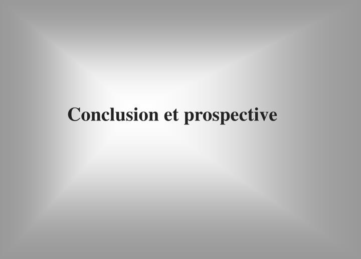 Conclusion et prospective