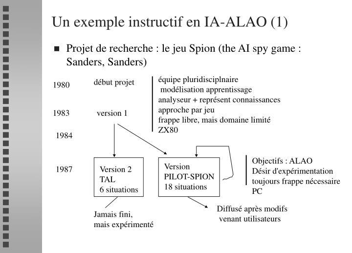 Un exemple instructif en IA-ALAO (1)