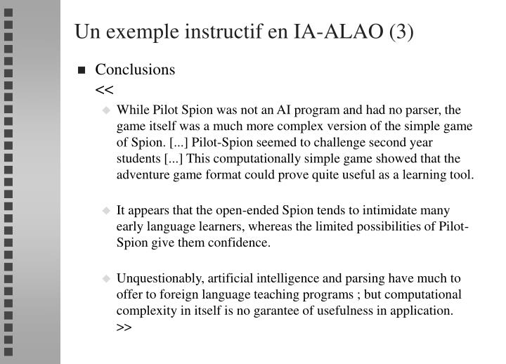 Un exemple instructif en IA-ALAO (3)