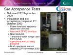 site acceptance tests