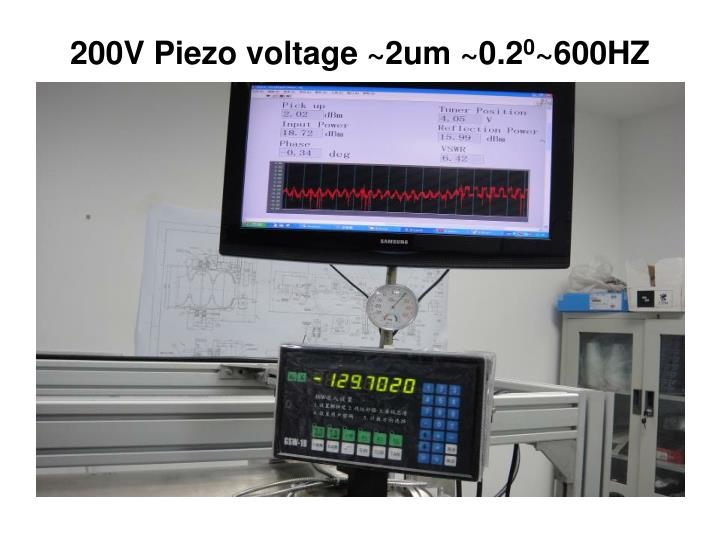 200V Piezo voltage ~2um ~0.2