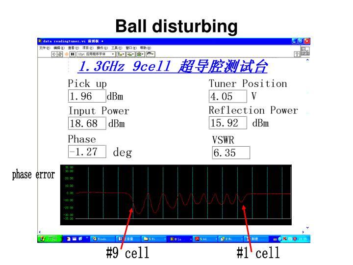 Ball disturbing