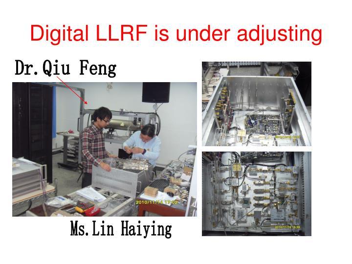 Digital LLRF is under adjusting