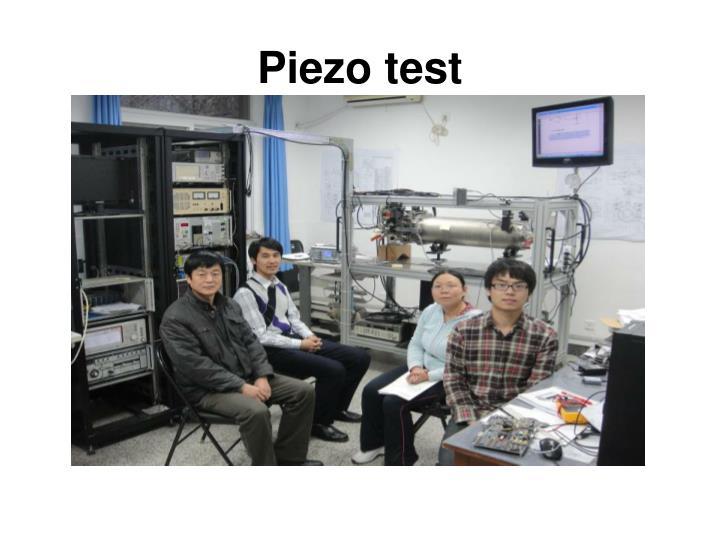 Piezo test