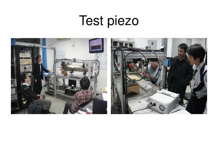 Test piezo