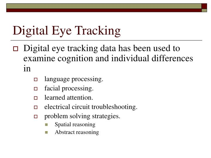 Digital Eye Tracking