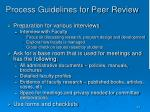 process guidelines for peer review2