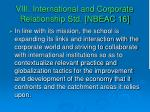 viii international and corporate relationship std nbeac 16