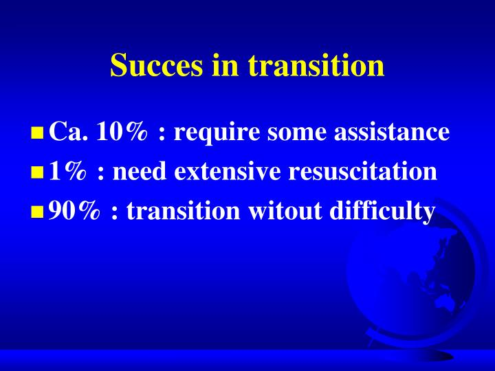 Succes in transition