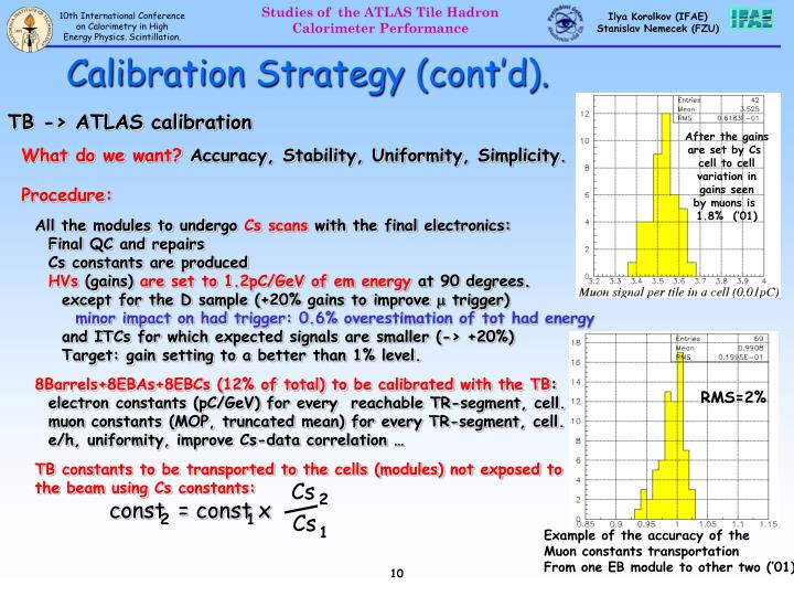 Calibration Strategy (cont'd).