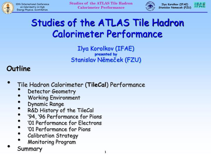 Studies of the atlas tile hadron calorimeter performance