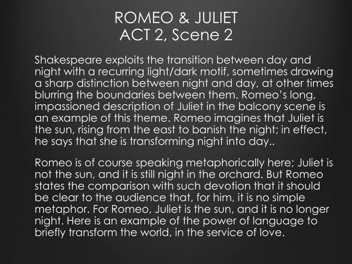 ROMEO JULIET ACT 2 Scene