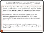 classificaci professional i mobilitat funcional