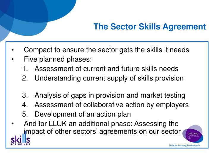 The Sector Skills Agreement