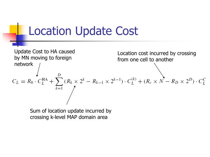 Location Update Cost