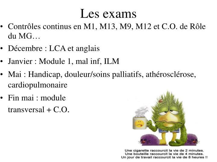 Les exams