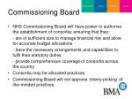 commissioning board
