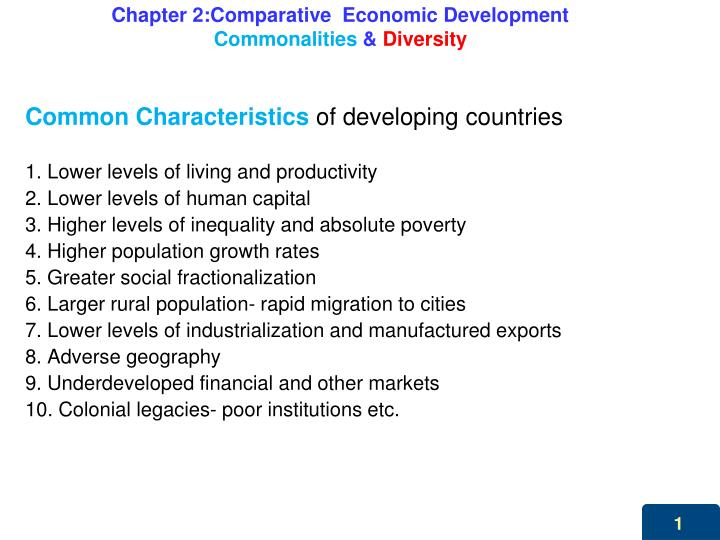 chapter 2 comparative economic development commonalities diversity n.