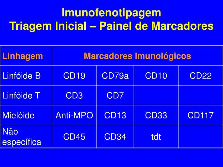 Imunofenotipagem